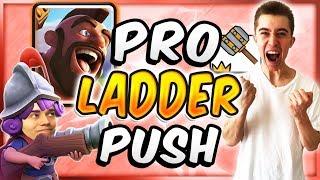 PRO Trophy Pushing w/ UNDERLEVELED BEST HOG RIDER DECK — Clash Royale