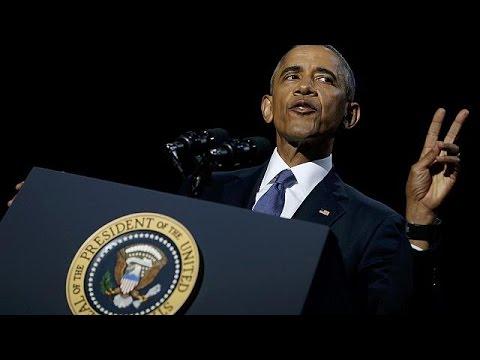 watch Les larmes d'Obama pour son dernier discours