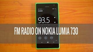 FM Radio on Lumia 730