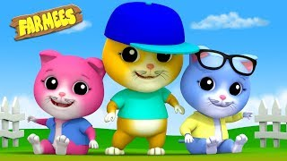 Three Little Kittens | Video For Toddlers | Song For Babies by Farmees