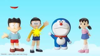 Learn Colors Doraemon Wrong Mouth trolls Nobita Xuka Xeko Finger Family Nursery Rhymes