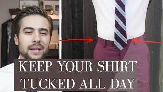 The SECRET to Keeping Your Shirt Tucked ALL Day | How To Tuck In A Shirt