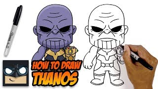 How to Draw Thanos | The Avengers | Step-by-Step Tutorial