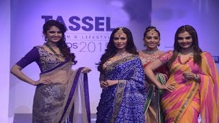 Bollywood Actress In Saree On Ramp @ Tassel Fashion Show