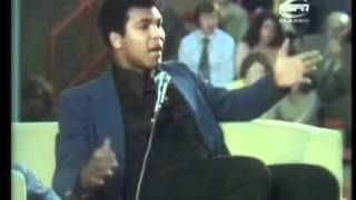 Muhammad Ali giving an amazing speech