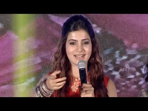 Samantha Cute Speech @ Lovers Movie  Launch Live
