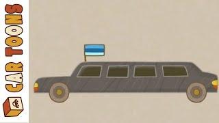Car Toons Presidential motorcade. Cartoon for kids.