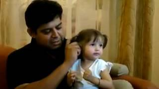 The Innocent Creating in the World  Cute Little Girl Enjoying With Her Father