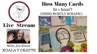 How many cards can be made in an hour? Hand made greeting cards