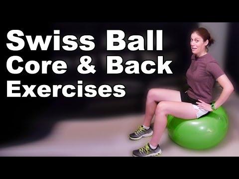 Swiss Ball Core & Back Strengthening Exercises (Basic) - Ask Doctor Jo