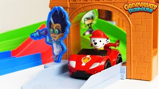 Best Learning Video for Kids Learn Colors PJ Masks Rival Race Track Toy Cars & Paw Patrol!