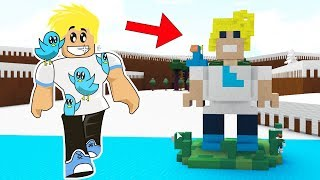 I BUILT MYSELF AS A BOAT!  BUILD A BOAT TO TREASURE ROBLOX