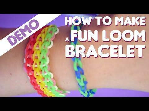 Fun Loom - How to make a bracelet video
