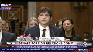 FULL: Ashton Kutcher Near TEARS in EMOTIONAL Opening Testimony at Hearing on Human Trafficking (FNN)
