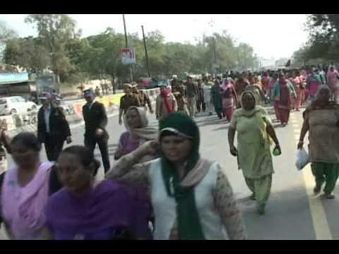 Bathinda Angarwadi Worker Protest Shot 1