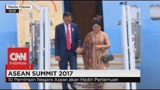Wow! Meriah.. Bergandengan Tangan, Presiden Jokowi & Iriana Tiba di Manila