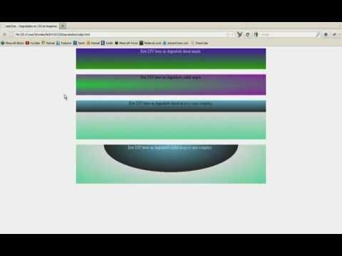 Tutorial CSS - Crear degradados sin imágenes [HD]