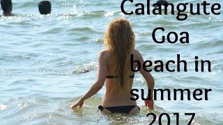 Calangute Goa beach in summer 2017