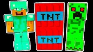 Minecraft Dark Side Knock Off Toys 1 TNT Creeper Lego Minifigure