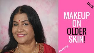 MAKEUP ON OLDER MATURE INDIAN / BROWN SKIN TUTORIAL | MY MOMS MAKEUP | NYX TOTAL CONTROL DROP