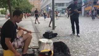Busking in Prague -
