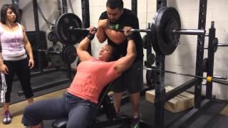 Amber DeLuca 265 lb Incline press