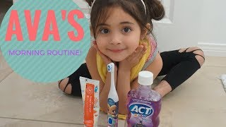 AVA'S MORNING ROUTINE IN OUR NEW HOUSE!!