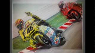 Valentino Rossi vs Biaggi 'THE FINGER' Painting