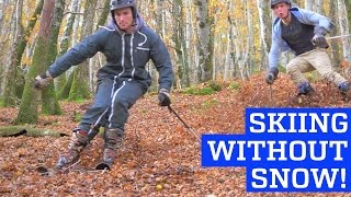 Skiing Without Snow - Downhill in Leafy Forest! | PEOPLE ARE AWESOME 2017