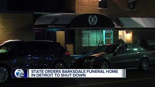 State of Michigan shuts down Detroit funeral home over deplorable conditions