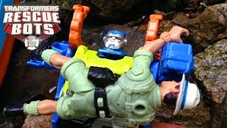 RESCUE BOTToys: Jungle River Rescue - Transformer Rescue Bot Toys in Action: Heatwave & High Tide