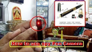 How to use spy pen camera in hindi and english.