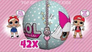 42X ❤️ LOL Surprise Dolls Balls Opening ❤️ L.O.L Surprise Ball Pop Game App for Kids