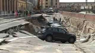 Voragine Lungarno torrigiani Firenze   25 maggio 2016