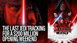 Star Wars: The Last Jedi Tracking For $200 Million Opening Weekend