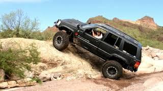 Hemi Grand Cherokee ZJ & JK rock crawling Arizona