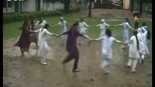 Sylhet Govt  agragami girls High School  student joy in rain