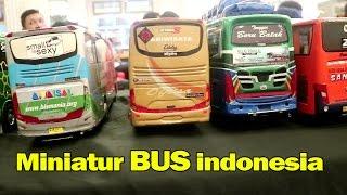 Ratusan Miniatur Bus Ternama Indonesia, Mirip Aslinya (Rosalia Indah, Harapan Jaya, Scania,SHD dll)
