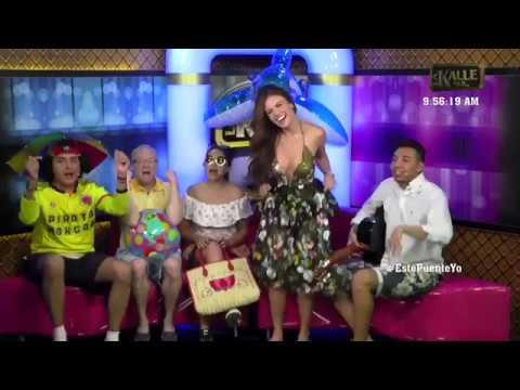 Sara Uribe se levantó la falda en PLENA transmisión