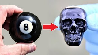 How To Carve a billiard ball into a SKULL
