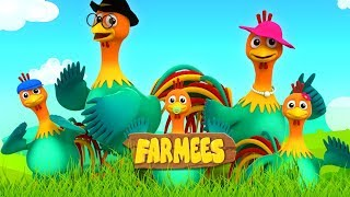 Rooster Finger Family | Nursery Rhymes For Kids by Farmees