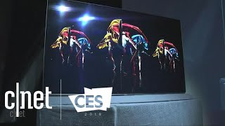 Panasonic shows new OLED TVs at CES 2018