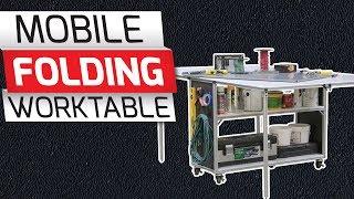 80/20 Inc: Xtreme DIY - Mobile Folding Worktable