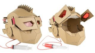 How To Make Transformers Hydraulic Mask - Cardboard