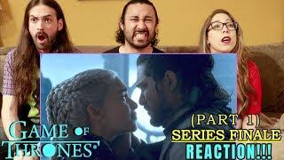 "GAME OF THRONES - SERIES FINALE Season 8 Episode 6 REACTION (Part 1)!!! ""The Iron Throne"""