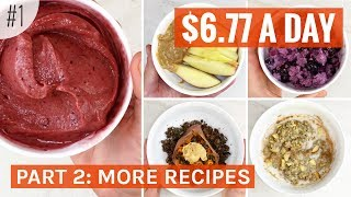 PLANT BASED ON A BUDGET, Cheap Easy Meals | No. 1 Part 2