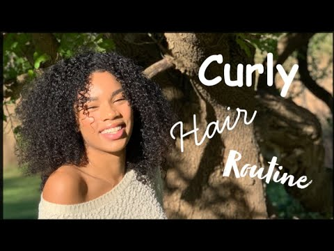 MY CURLY HAIR ROUTINE!!
