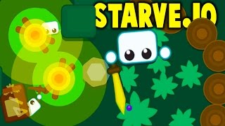 STARVE.IO - FREE SURVIVAL BASE BUILDING GAME! 1st Place Leaderboard - Starve.io Gameplay Highlights