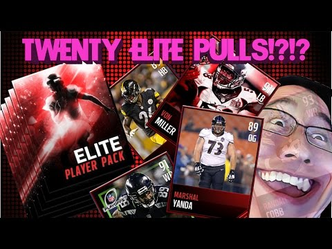 Elite Player Pack Opening Madden Mobile 17 20 Elites