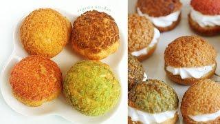Choux au Craquelin - Crunchy Cream Puff Recipe 쿠키슈 만들기 - 한글자막
